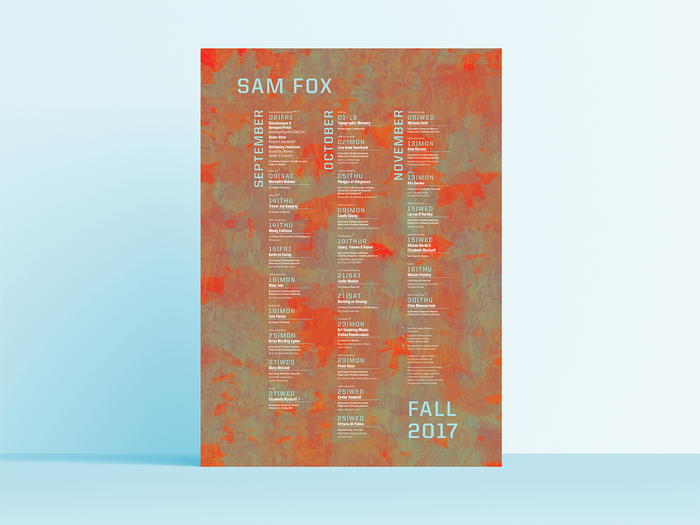 Sam Fox fall events calendar 1