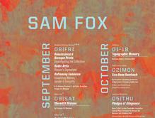 Sam Fox fall events calendar