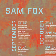 Sam Fox fall events calendar