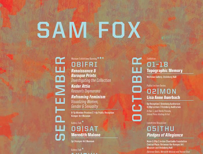 Sam Fox fall events calendar 3