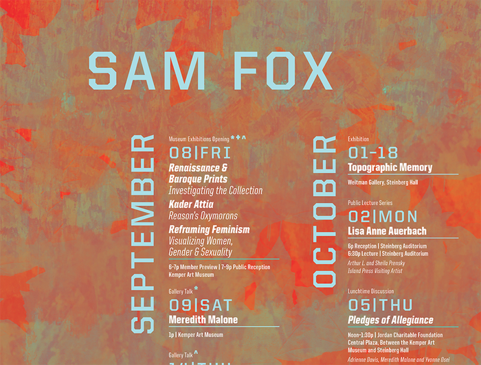 Sam Fox fall events calendar 3