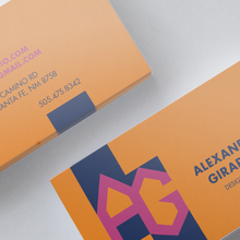 Alexander Girard monogram business card (fictional)