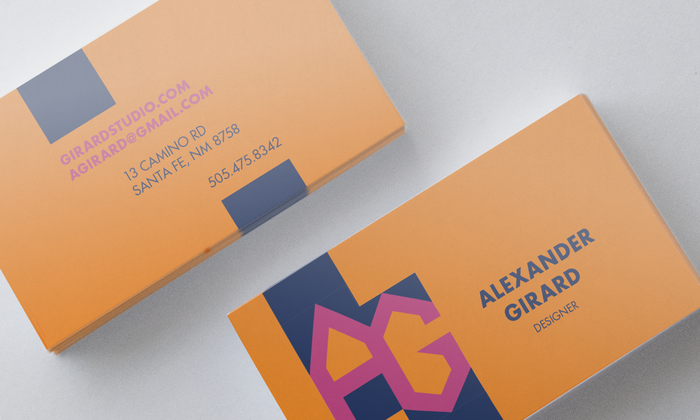 Alexander Girard monogram business card (fictional) 1