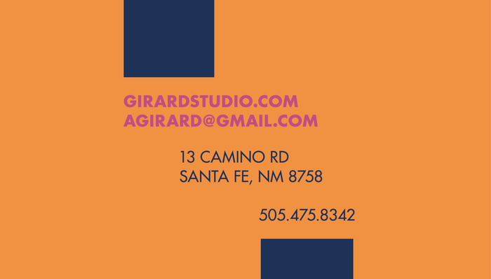Alexander Girard monogram business card (fictional) 3