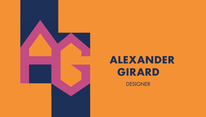 Alexander Girard monogram business card (fictional) 2