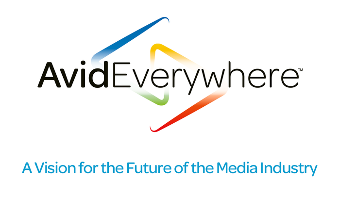 Logo for Avid Everywhere, featuring the modified version of Omnes. The difference in the terminals is most noticeable in the bolder weights (here the Medium).