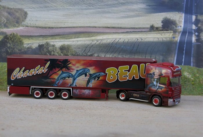 WSI Models' miniature version (Scale 1:50) of Beau's NextGen Scania S500 with Assassin's Creed as its theme. [Iepieleaks]
