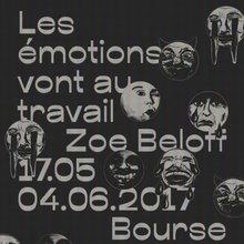 <cite>Les émotions vont au travail</cite> exhibition poster