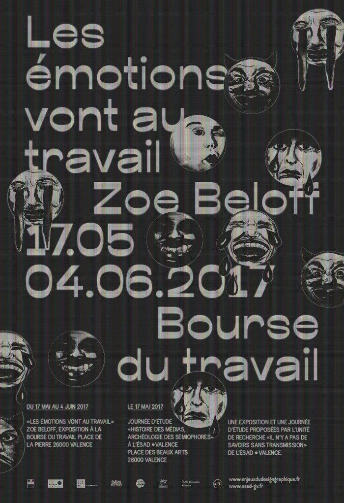 Les émotions vont au travail exhibition poster