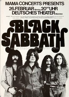 Black Sabbath 1973 tour posters