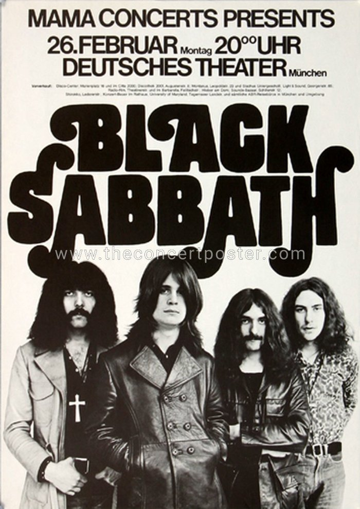 Black Sabbath 1973 tour posters 1