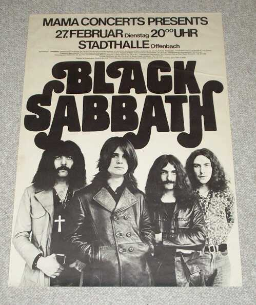 Black Sabbath 1973 Tour Posters Fonts In Use