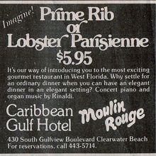Caribbean Gulf Hotel newspaper ad