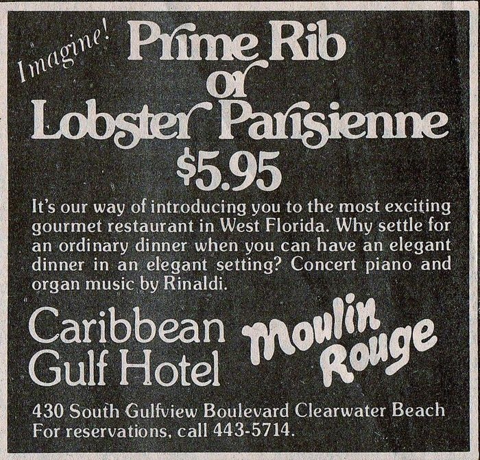 Caribbean Gulf Hotel newspaper ad 1