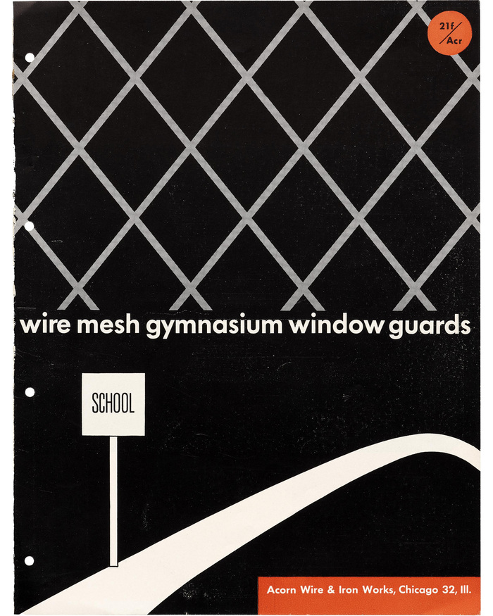 """Wire Mesh Gymnasium Window Guards"" brochure 1"