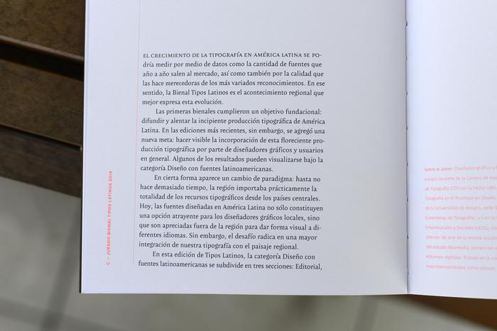 Tipos Latinos 6th Biennale catalogue 8