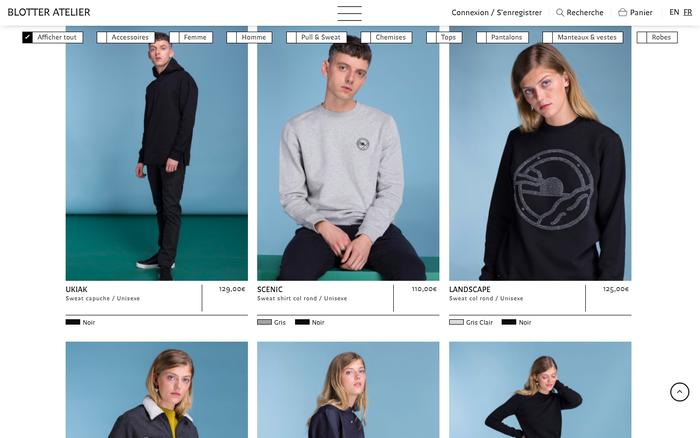 Website, e-shop autumn/winter 2018