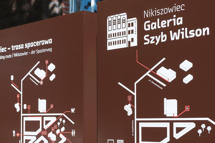 Wayfinding system in Nikiszowiec 2