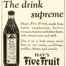 Hay's Five Fruit ad