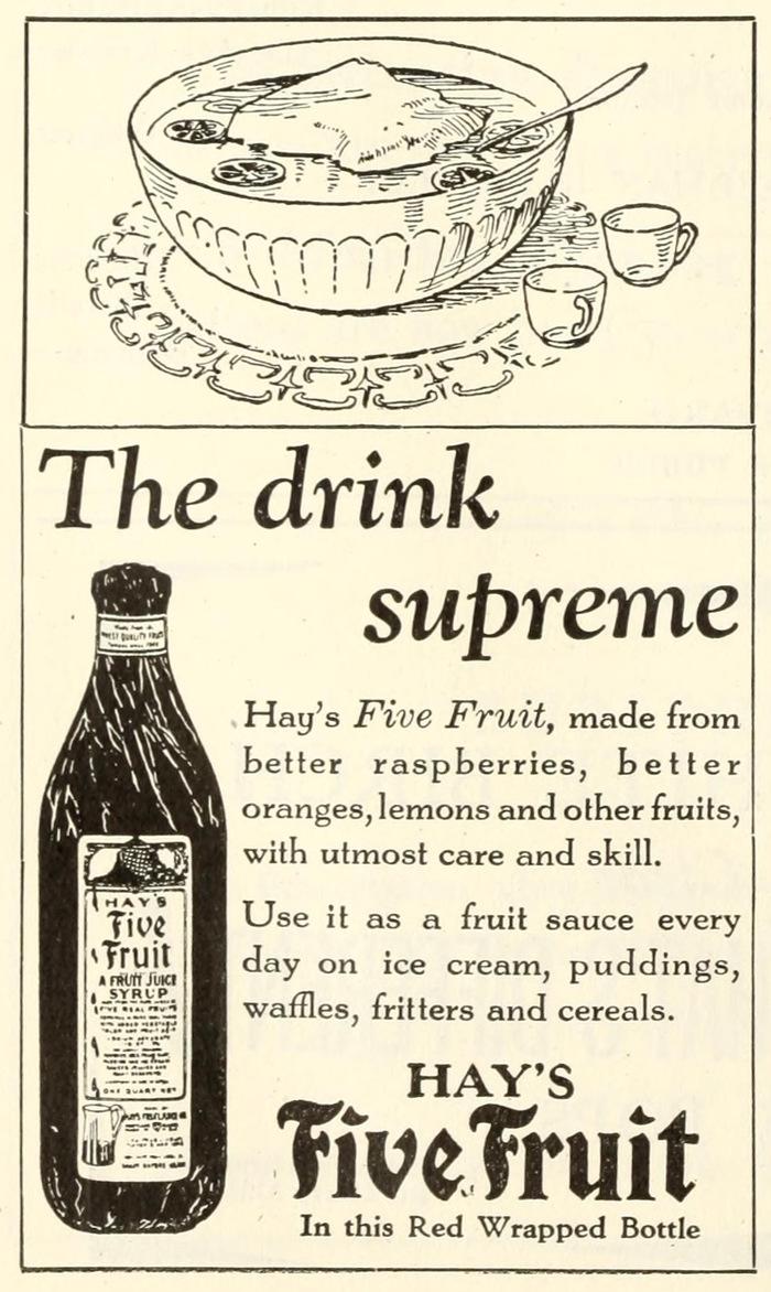 Hay's Five Fruit ad 1