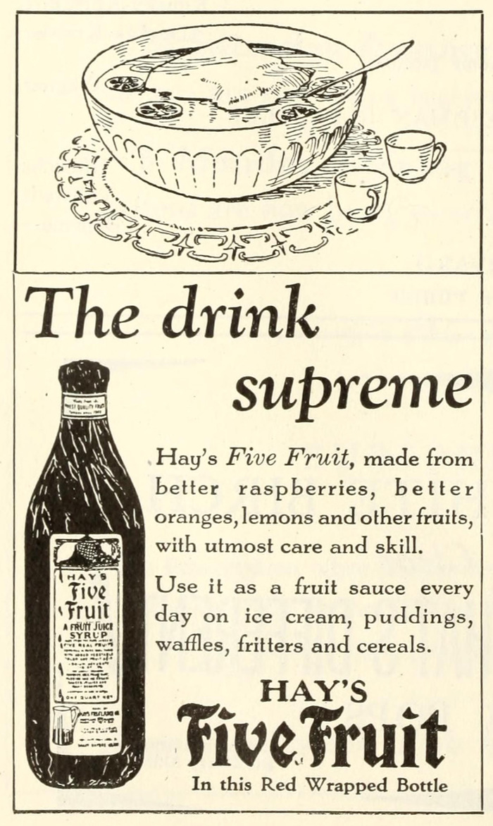 Hay's Five Fruit ad 1