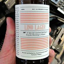 Lino Lager beer label