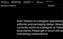 Evan Tolleson portfolio