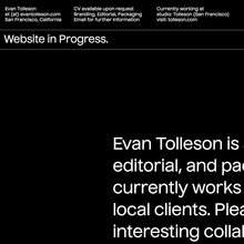Evan Tolleson portfolio website