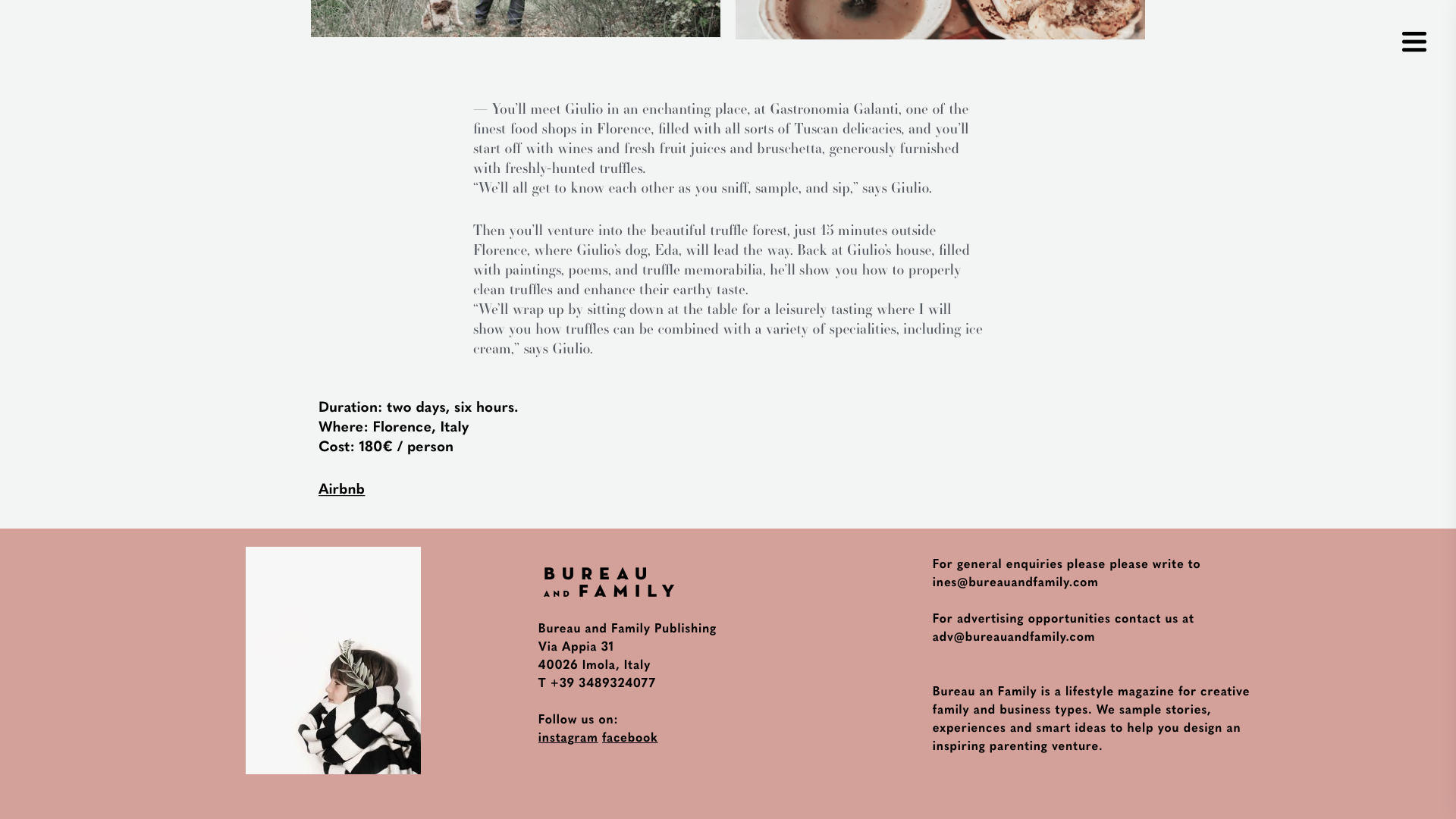 Bureau and Family website - Fonts In Use