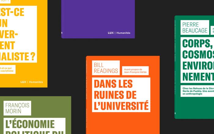 Collection Humanités, Lux Éditeur 1