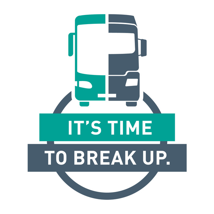 """It's Time To Break Up"" campaign logo 1"