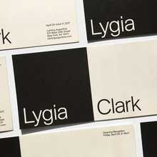 Invitation for Lygia Clark at Luhring Augustine