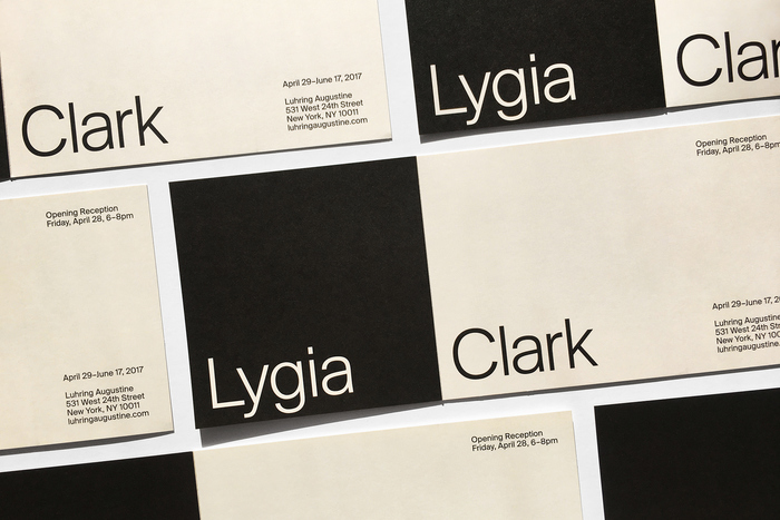 Invitation for Lygia Clark at Luhring Augustine 1