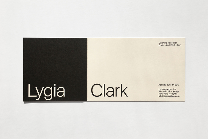 Invitation for Lygia Clark at Luhring Augustine 3