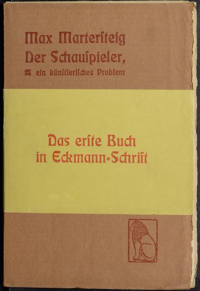 Der Schauspieler, ein künstlerisches Problem – Max Martersteig (Eugen Diederichs) 1