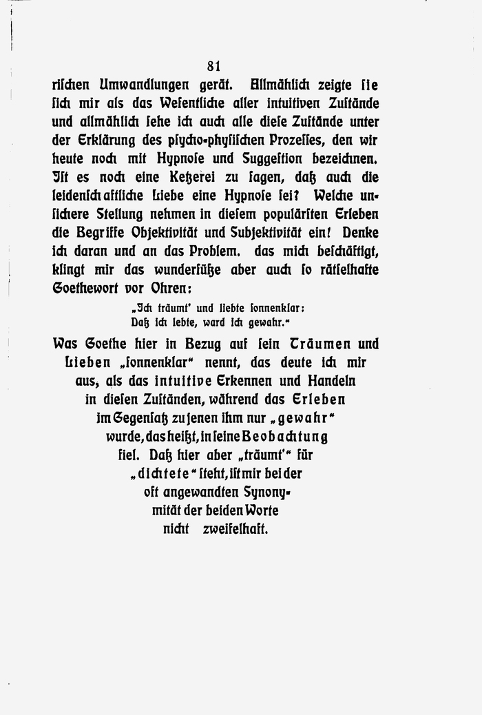 The text ends with a tapering column (Spitzkolumne in German).