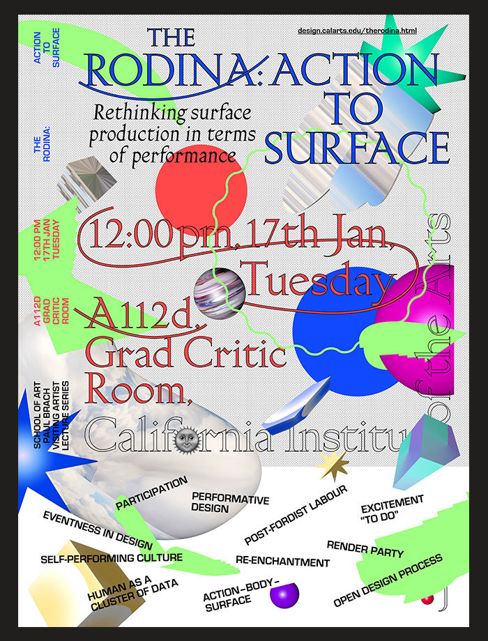The Rodina Lecture: Action to Surface 1