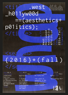 <cite>WHAP! Fall 2016</cite> poster