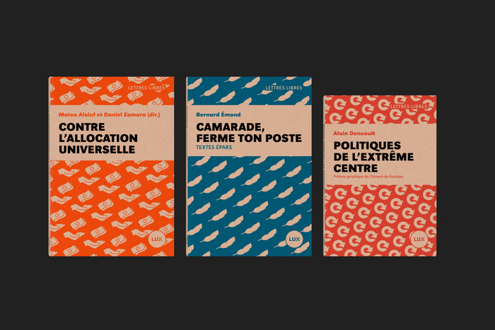 Lettres Libres collection, Lux Éditeur 3