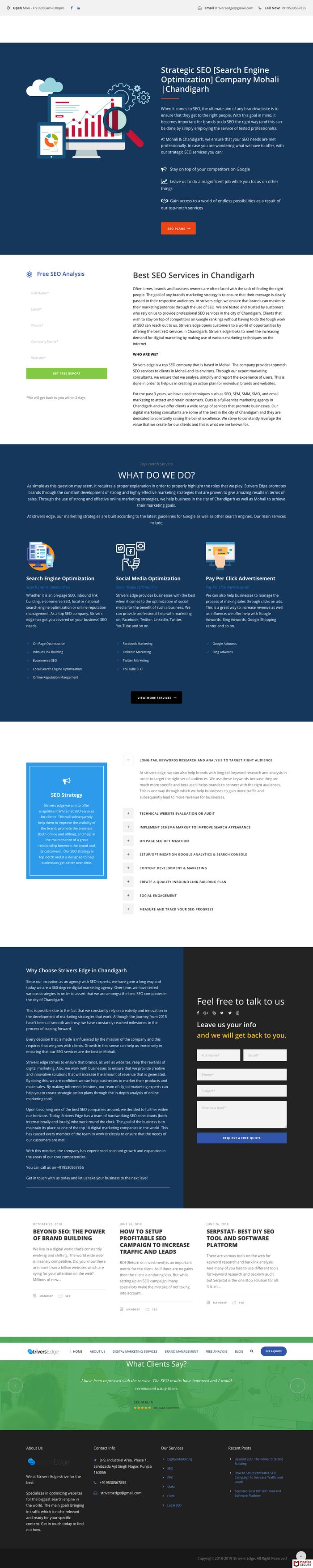 Strivers Edge website 2