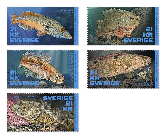Fish in the Nordic Countries stamps 1
