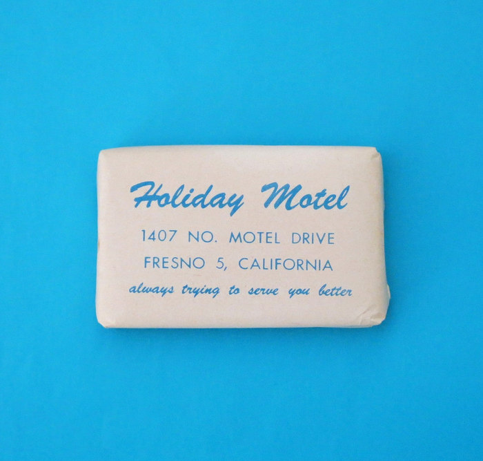 Holiday Motel Fresno soap wrapper