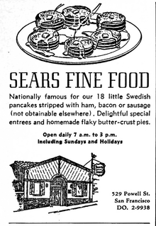 Sears Fine Food ad