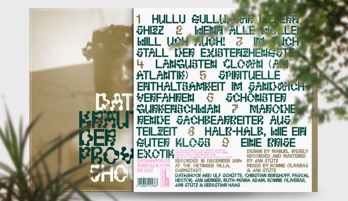 Kräuter der Provinz gatefold LP, front and back cover