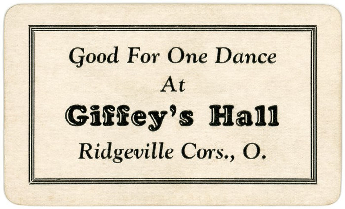 Ticket Good for One Dance, Giffey's Hall