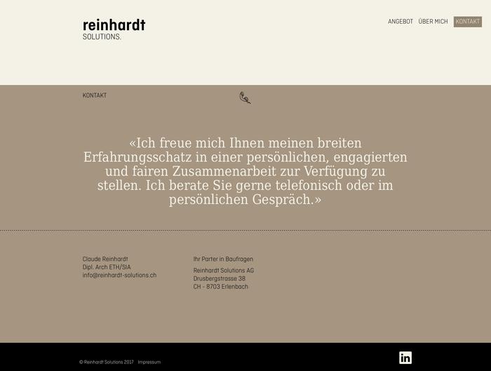 Reinhardt Solutions 4