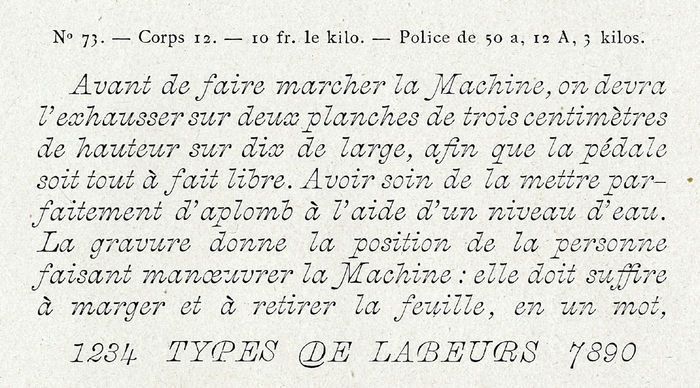 Berthier & Durey specimen, 1905.
