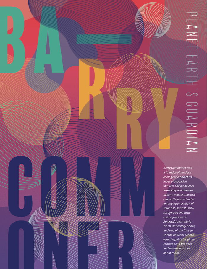 Barry Commoner biography poster 1