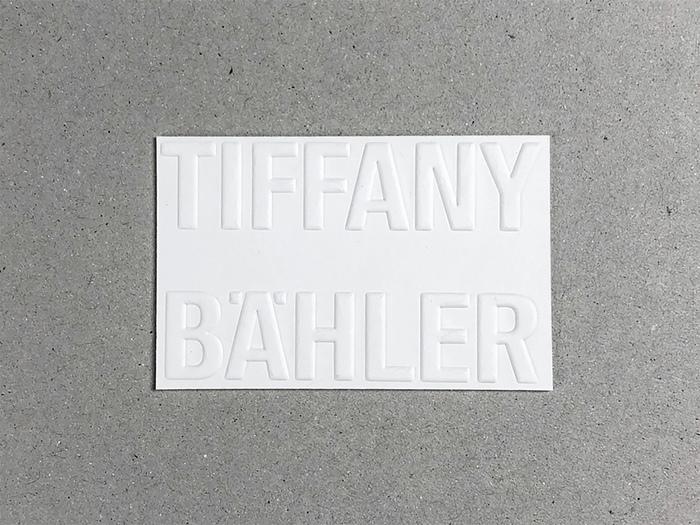 Tiffany Bähler business card 1