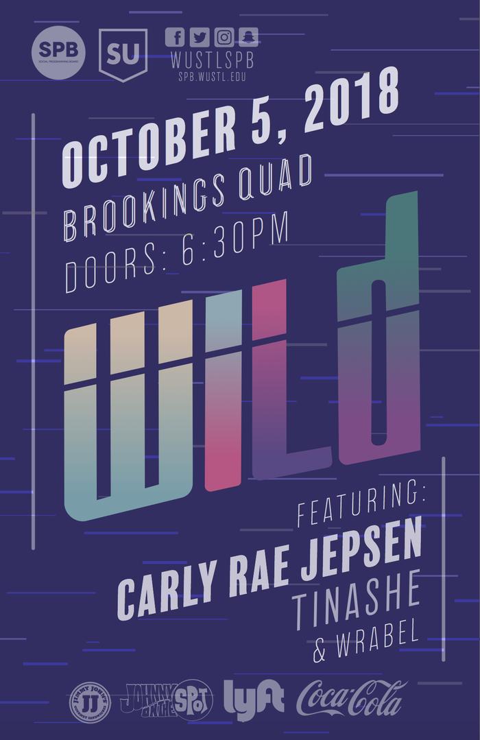 Fall 2018 WILD concert poster 1